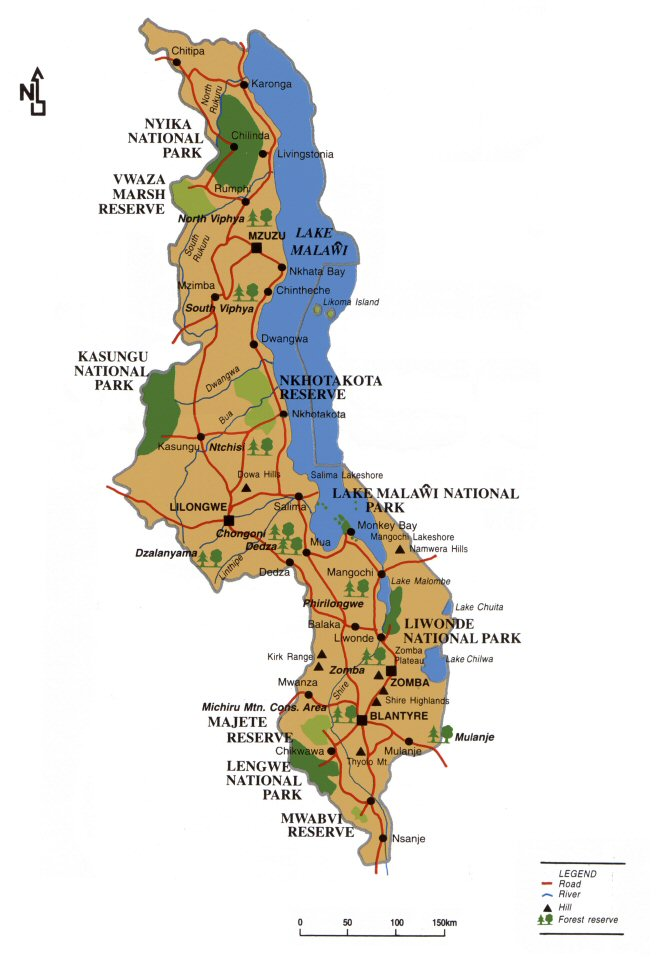 Malawi-map-2015-Wildlifeangel