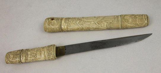 manche de couteau en ivoire