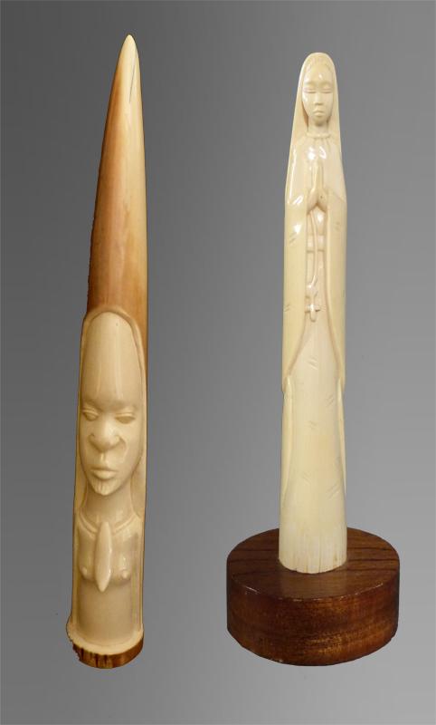 sculpture fabriquée en ivoire