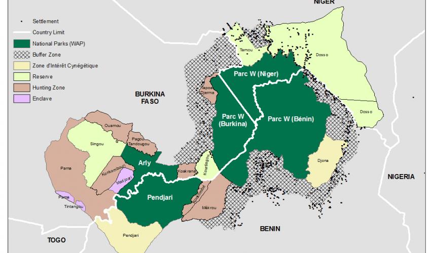 Complexe WAP : parcs du W, d'Arly et de la Pendjari